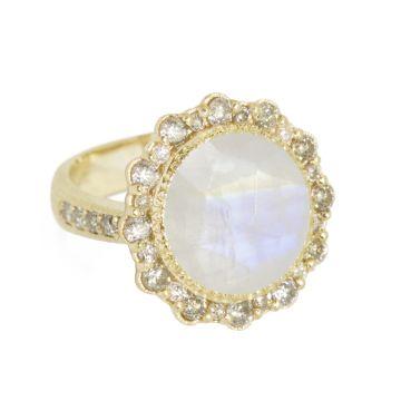 Nina Nguyen Designs Luna Lace Pave Gold Ring