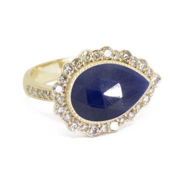Nina Nguyen Designs Melinda Lace Pave Gold Ring