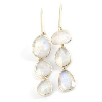 Nina Nguyen Designs Over The Moon Gold Earrings