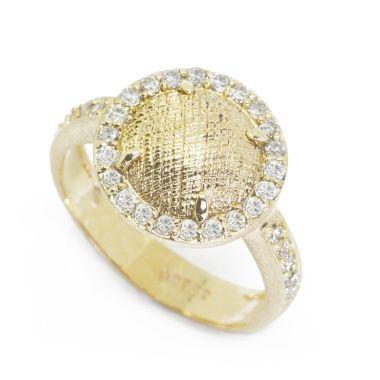 Nina Nguyen Designs Petal Lace Pave Gold Ring
