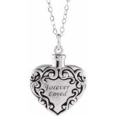 """Sterling Silver Forever Loved Ash Holder 18"""" Necklace"""
