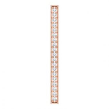 14K Rose 1/5 CTW Diamond Vertical Bar Pendant