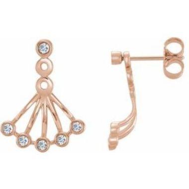 14K Rose 1/6 CTW Diamond Earrings