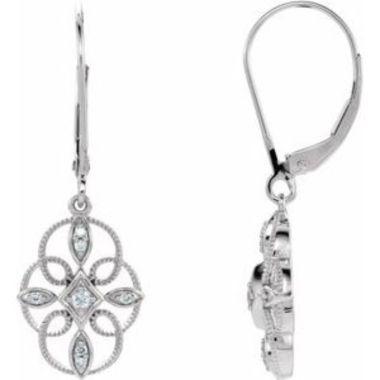 Sterling Silver 1/10 CTW Diamond Granulated Filigree Earrings