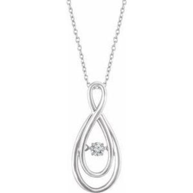 "Sterling Silver 1/10 CT Mystara Diamond?? 18"" Necklace"