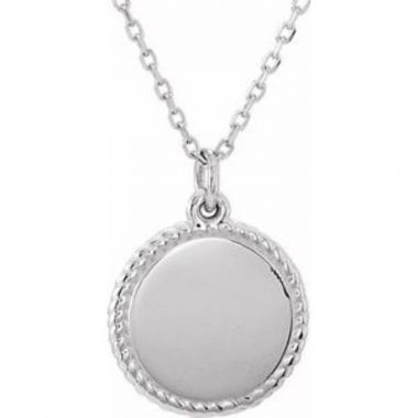"""Sterling Silver Round 16-18"""" Rope Necklace"""