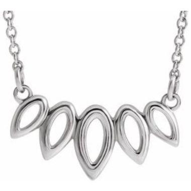 """Sterling Silver Leaf 16-18"""" Necklace"""