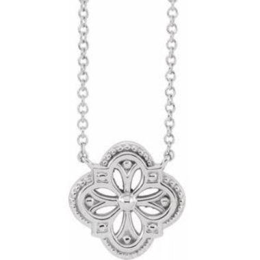 """Sterling Silver Vintage-Inspired Clover 18"""" Necklace"""