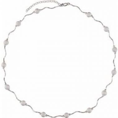 """Sterling Silver Adjustable Star Dust Bead 16-18"""" Necklace"""