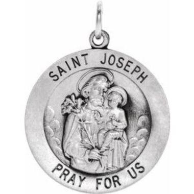 Sterling Silver 25 mm St. Joseph Medal