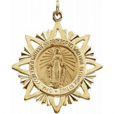 14K Yellow 29 mm Miraculous Medal