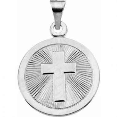 Sterling Silver 19 mm Confirmation Medal