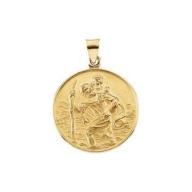 18K Yellow 25 mm St. Christopher Medal