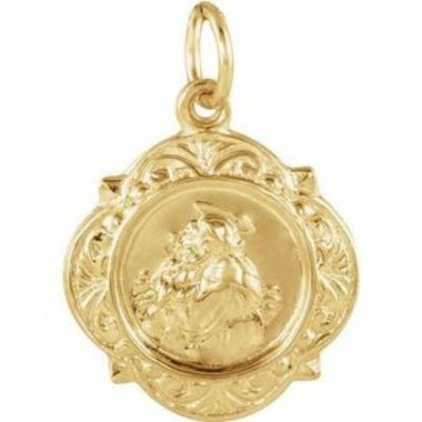 14K Yellow 12.14x12.09 mm St. Anthony Medal