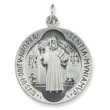 Sterling Silver 18.5 mm St. Benedict Medal