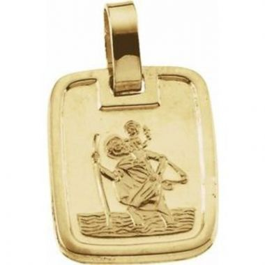 18K Yellow 13.1x11.2 mm St. Christopher Medal