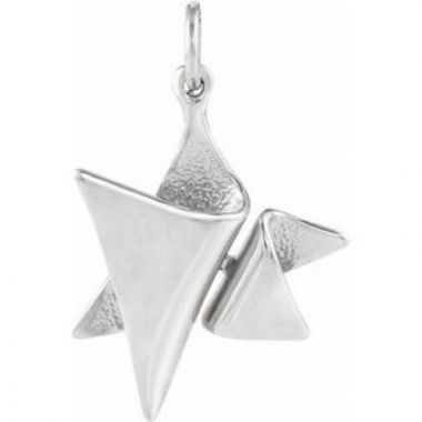 Sterling Silver 19x17 mm Star of David Pendant