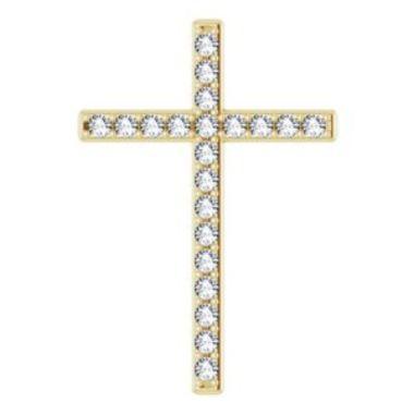 14K Yellow 2.5 mm Round 1 CTW Diamond Pendant