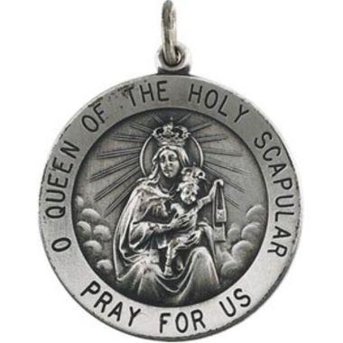 Sterling Silver 25 mm Scapular Medal