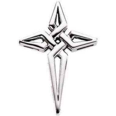 Sterling Silver 29x21 mm Cross Pendant